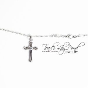 Small cross necklace for layering